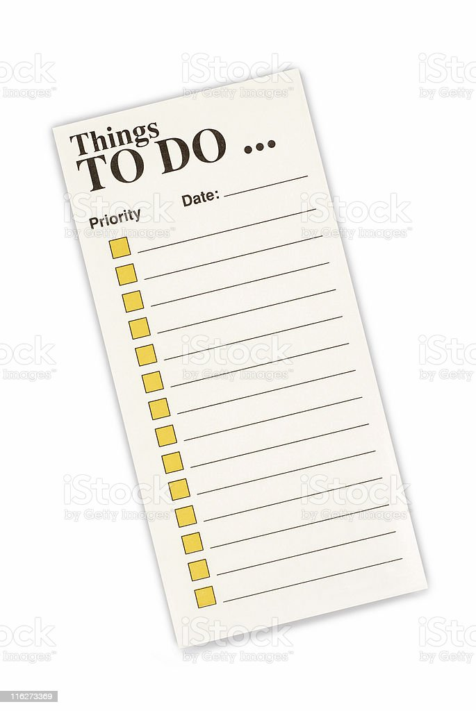 Task list with checkboxes royalty-free stock photo