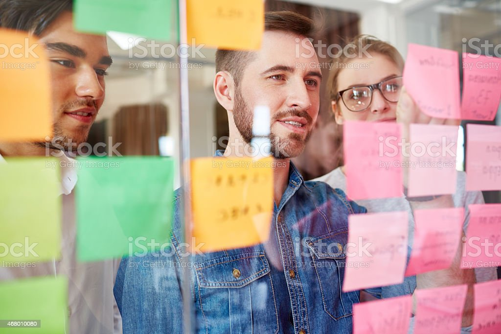 Tasks for today stock photo