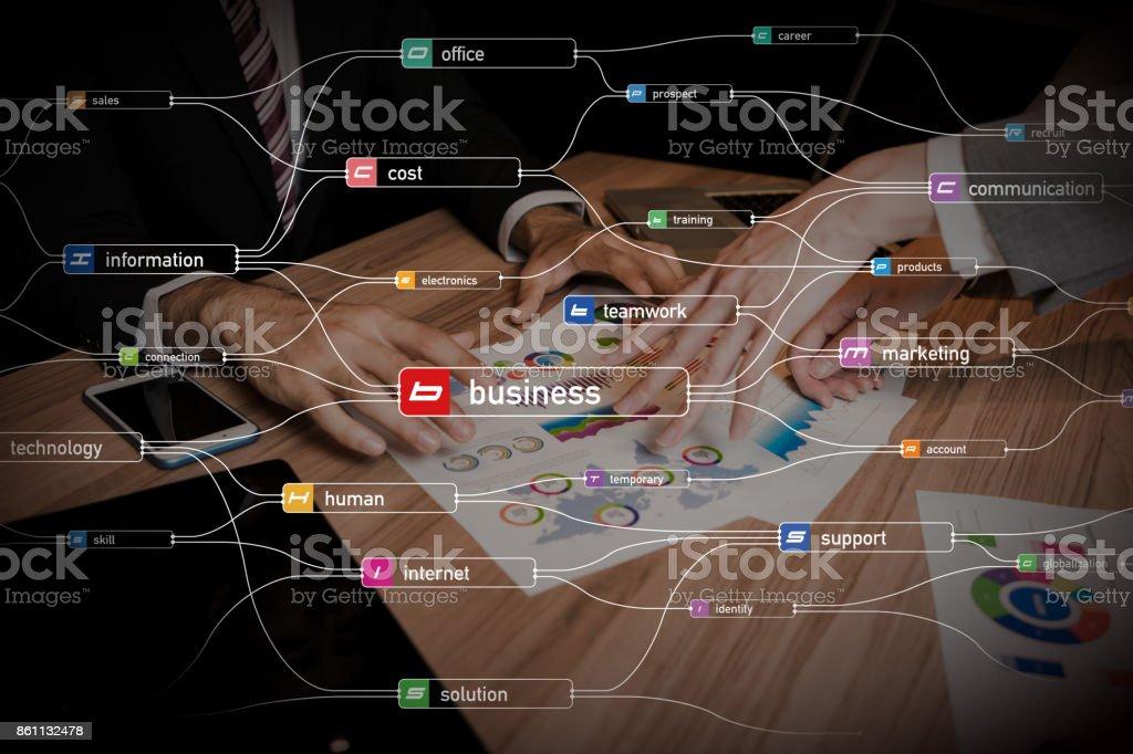 Aufgaben des Geschäftskonzepts. - Lizenzfrei Abstrakt Stock-Foto