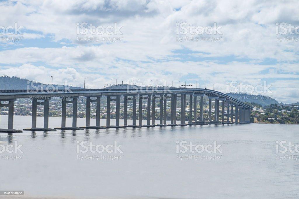 Tasman Bridge, Hobart stock photo
