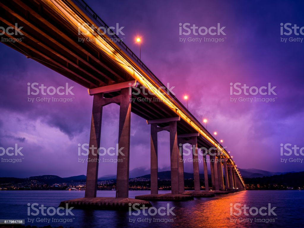 Tasman Bridge in Tasmania, Australia stock photo