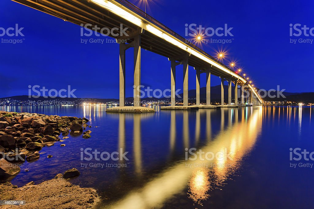 Tasman Bridge Side Close stock photo