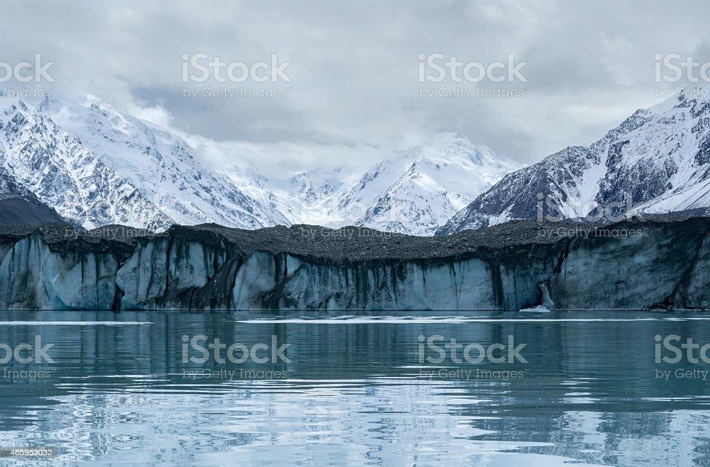 Tasman Glacier Close Up Face stock photo