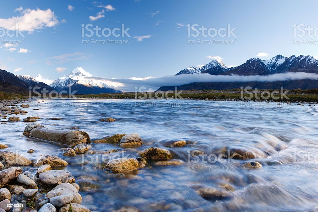 Tasman Valley Stream royalty-free stock photo