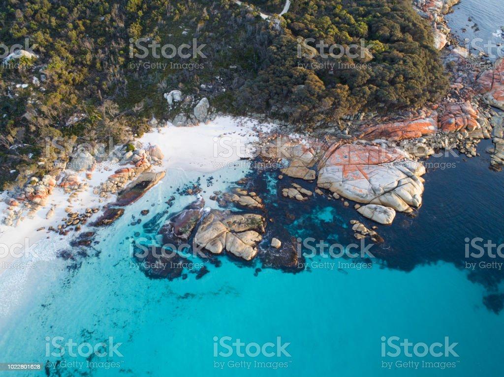 Tasmanian East Coast Aerial stock photo