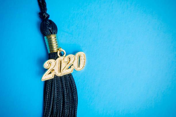 2020 Tassel on Blue stock photo
