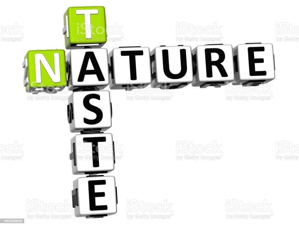 3D Taste Nature Crossword text foto stock royalty-free