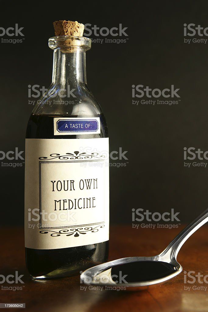 Taste of Your Own Medicine royalty-free stock photo