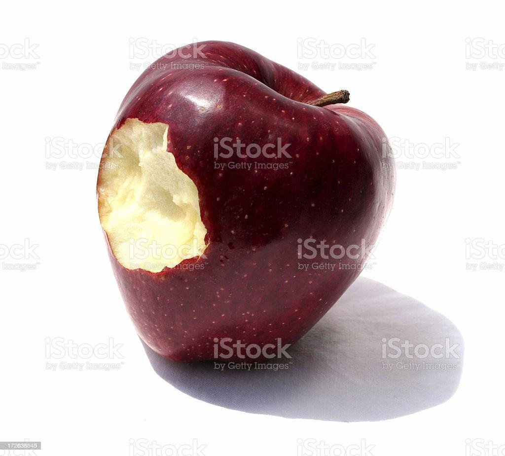 Taste the apple royalty-free stock photo