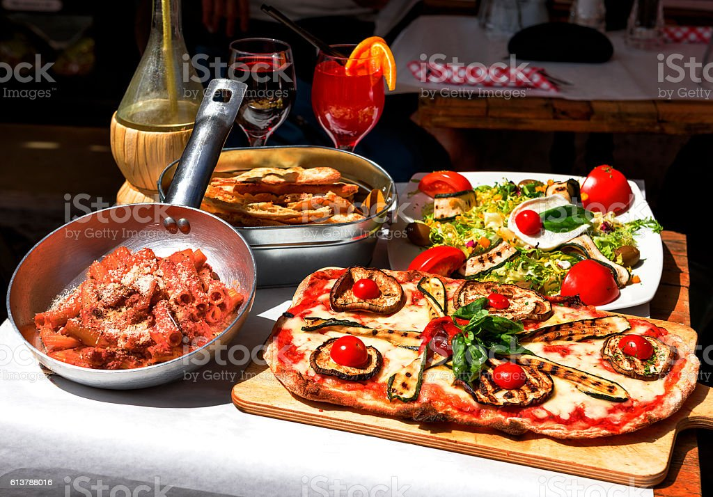 Tasted and famous Italian food stock photo