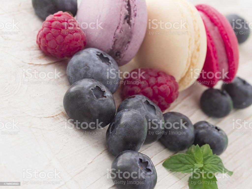 tasteful macaroons royalty-free stock photo