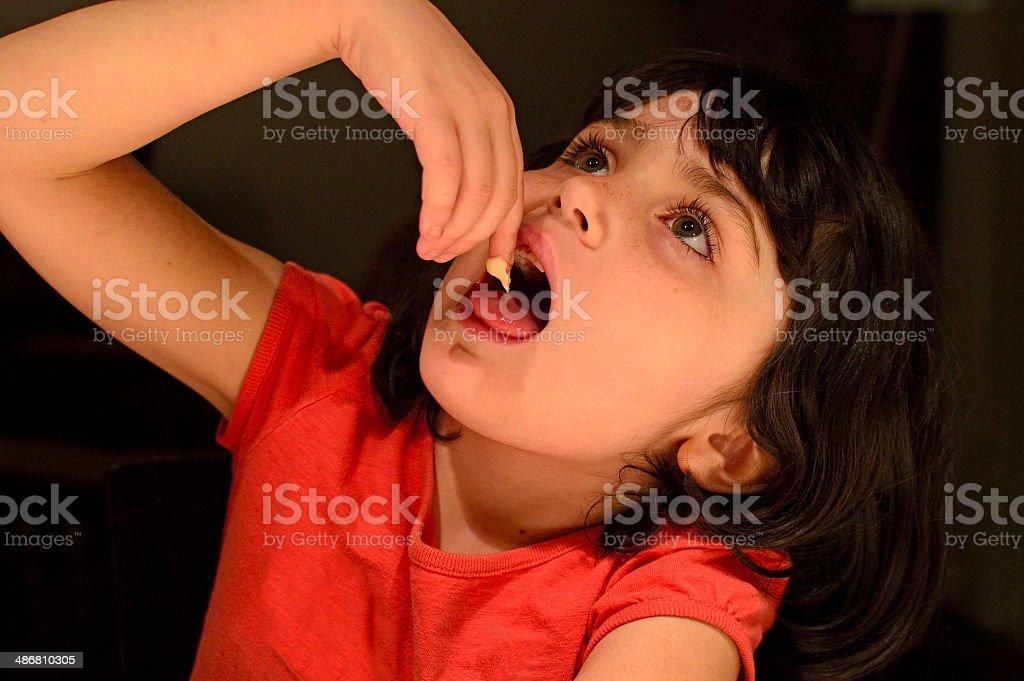 Tasting Batter stock photo