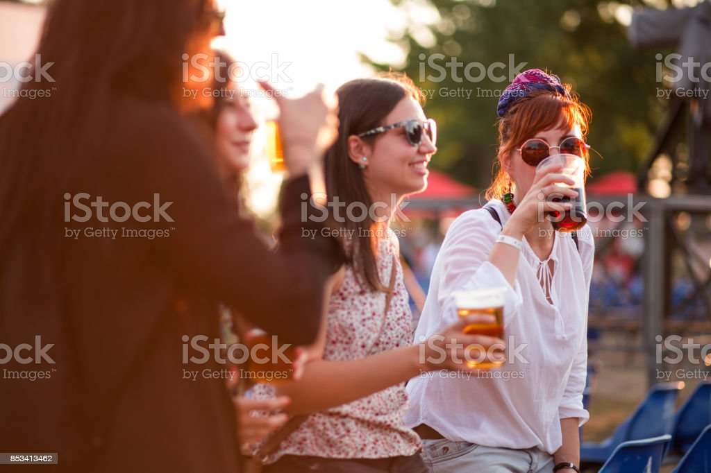 Tasting Beer In Beer Festival stock photo