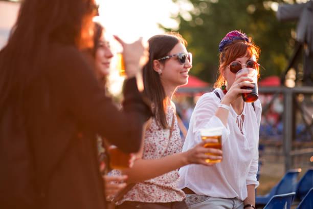 Tasting Beer In Beer Festival stock photo