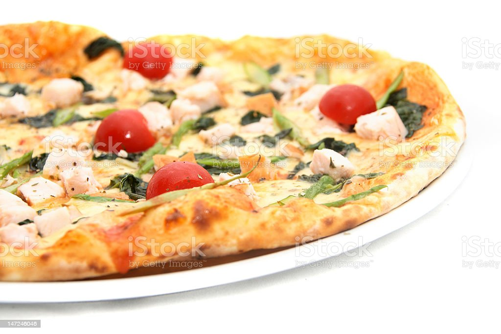 tasting piece of pizza royalty-free stock photo
