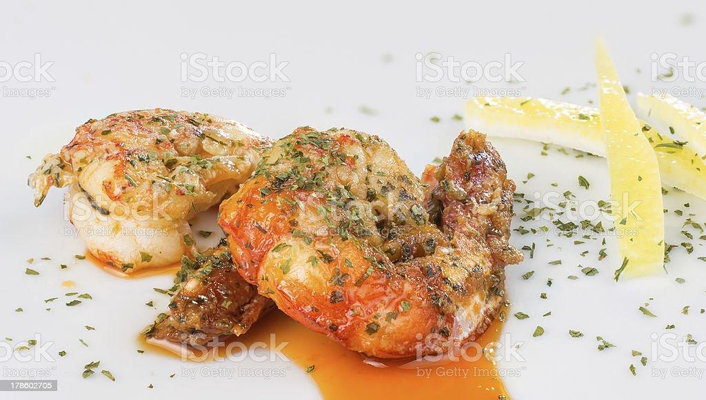 tasting prawns stock photo
