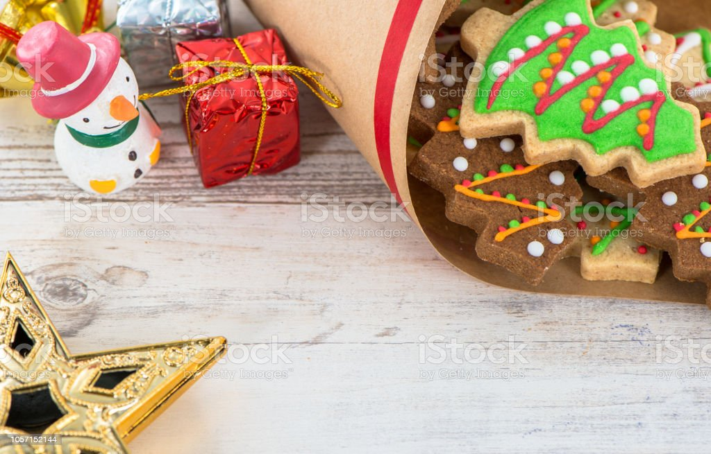 Tasty And Cute Baked Christmas Cookies Stock Photo Download Image Now