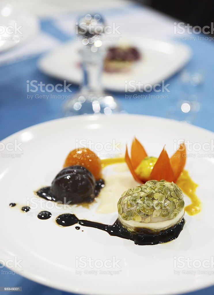 Tasty appetizer on restaurant table royalty-free stock photo