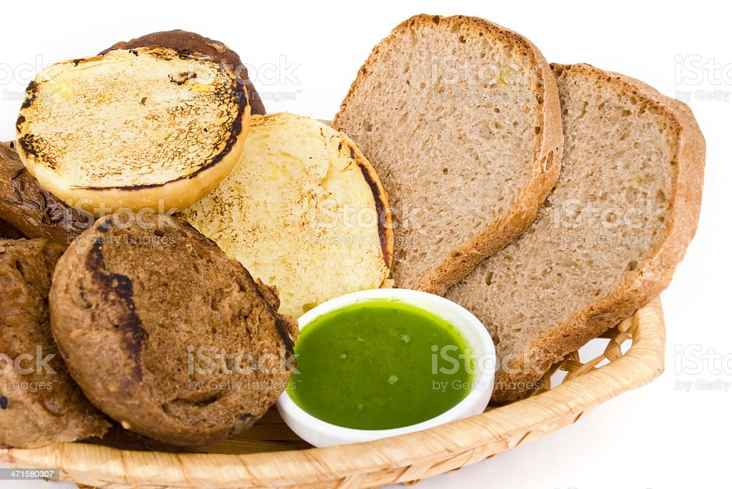 tasty baked with ears of wheat, isolated on white background royalty-free stock photo