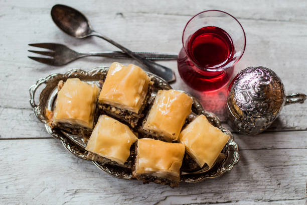 Savoureux baklava et café turc - Photo