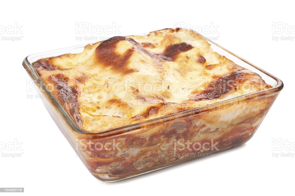 tasty beef lasagna royalty-free stock photo