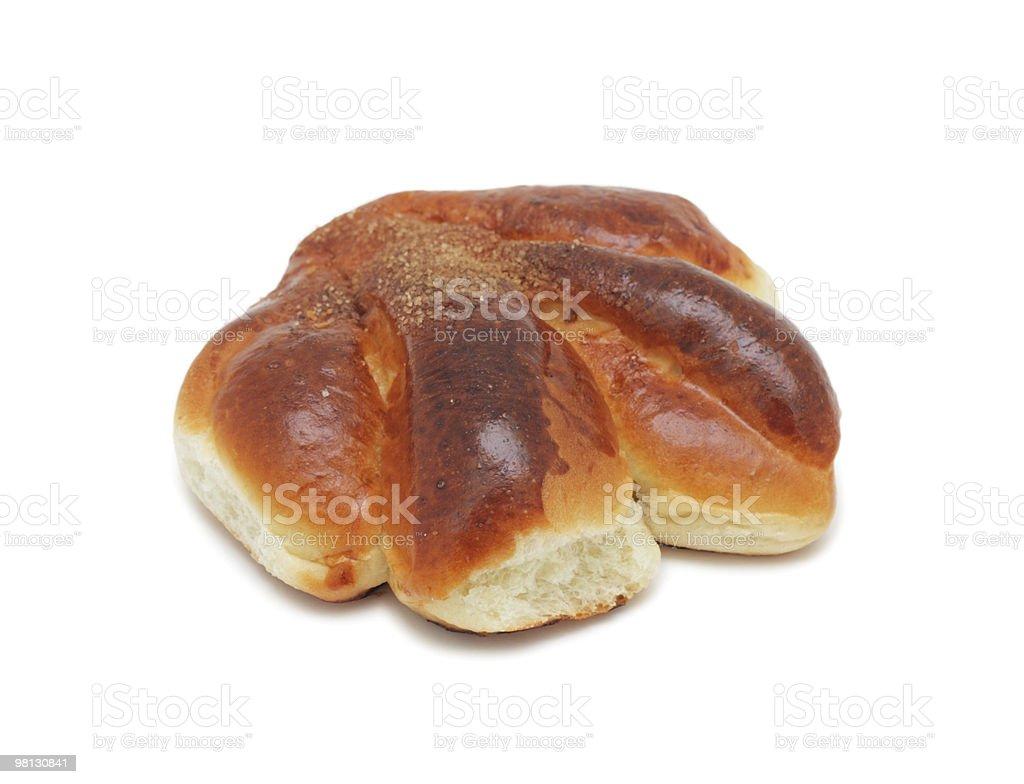 Tasty bread roll, isolated royalty-free stock photo