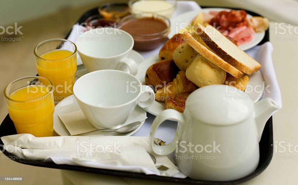 Tasty breakfast for two royalty-free stock photo