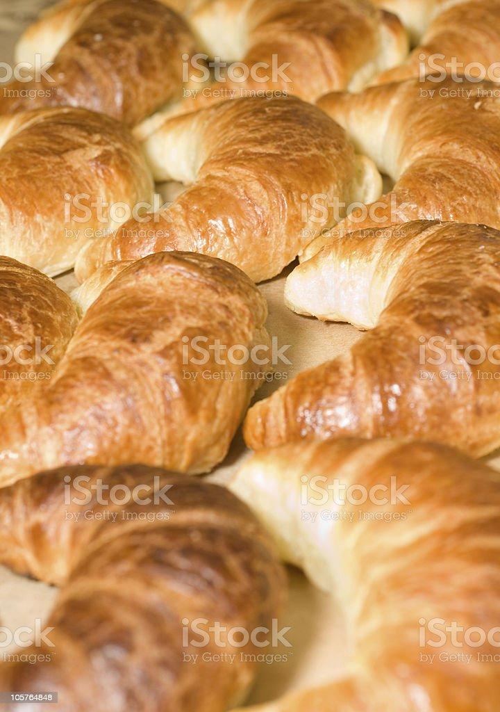 Tasty Breakfast - group of croissants royalty-free stock photo