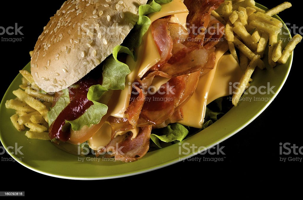 Tasty Burger royalty-free stock photo