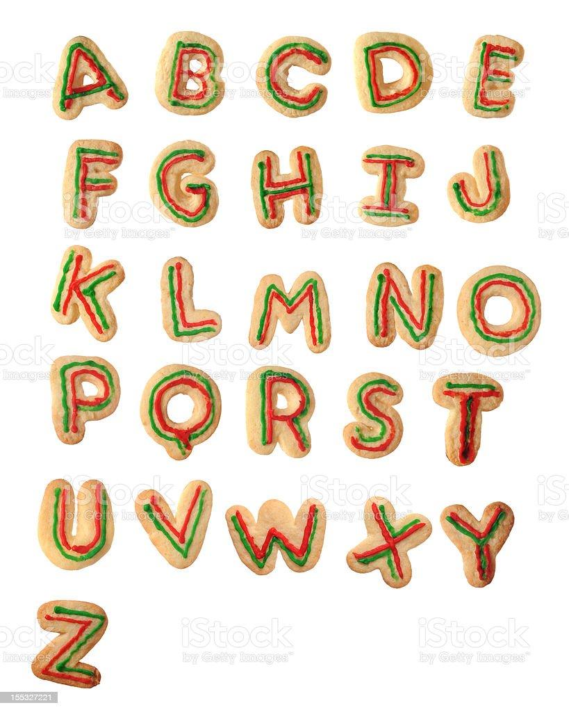 Tasty Christmas Alphabet royalty-free stock photo