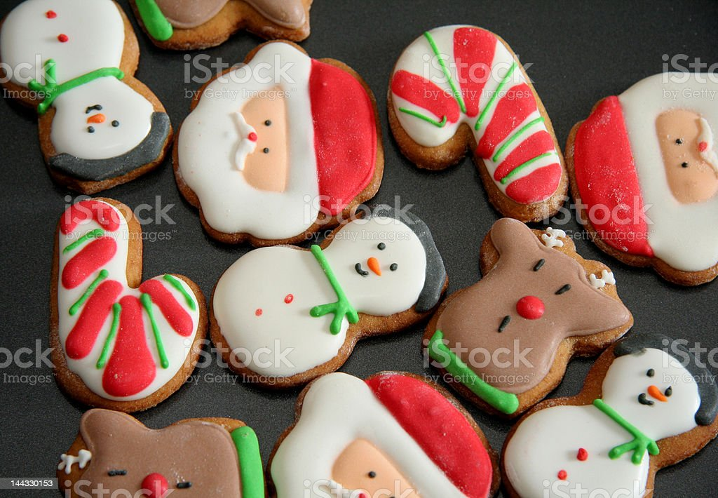 Tasty Christmas Cookies royalty-free stock photo