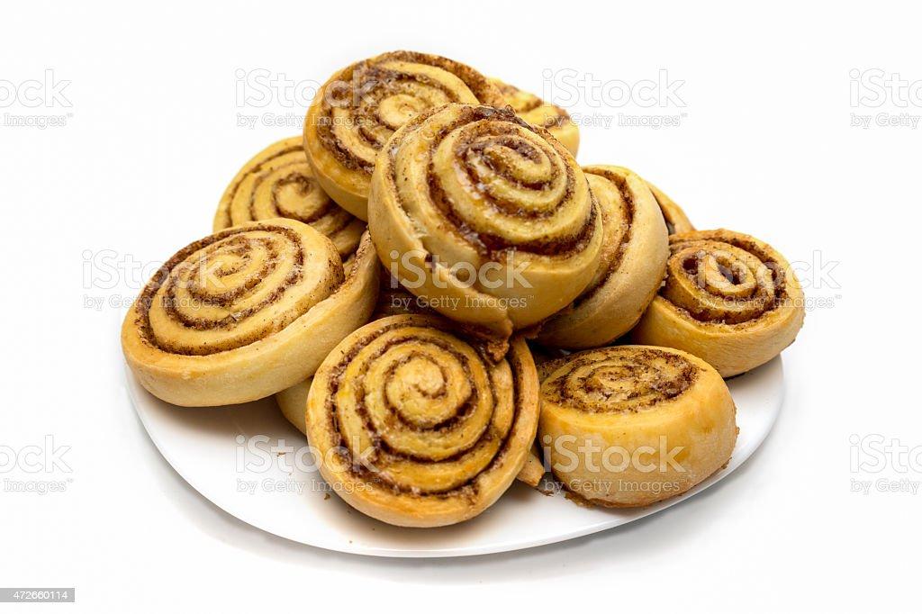 tasty cinnamon rolls stock photo