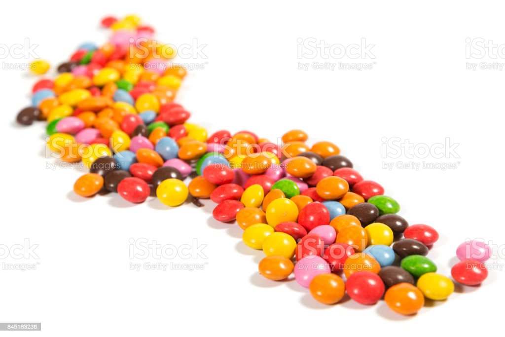 Tasty colorful candies the children's favorite sweets stock photo
