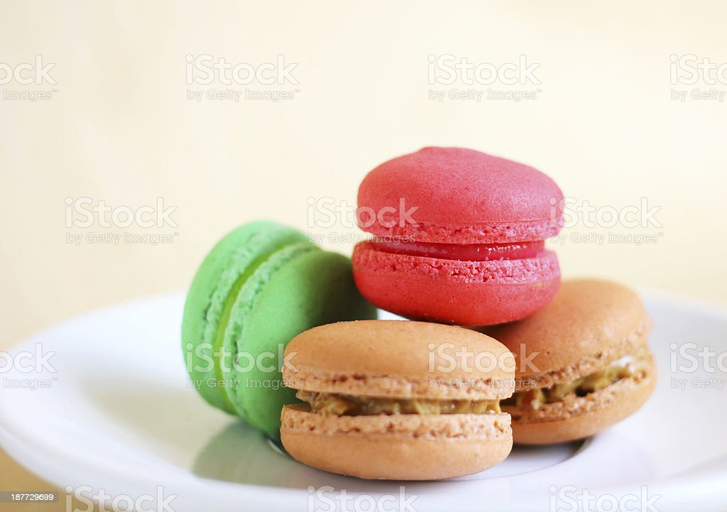 Tasty colorful macaroons royalty-free stock photo