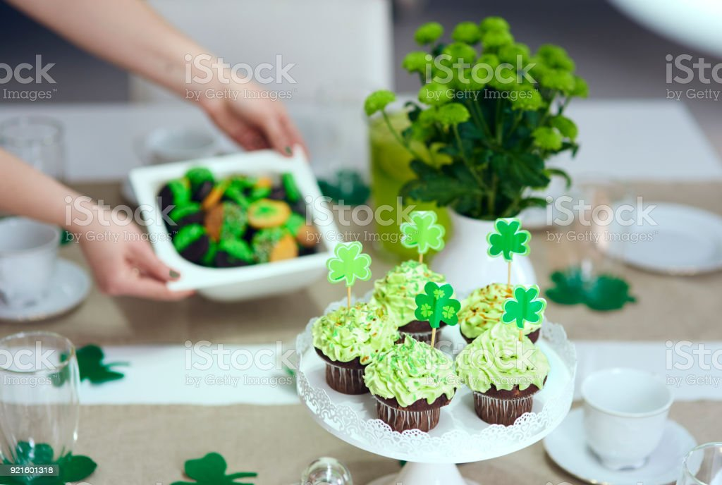 Tasty cupcake on the table stock photo