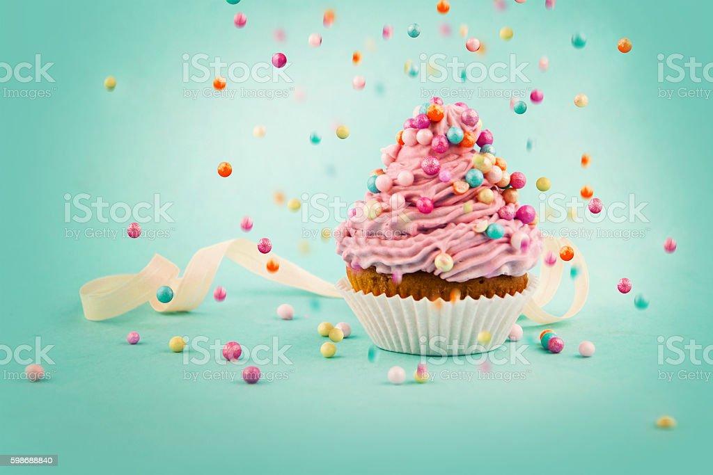 Tasty cupcake stock photo