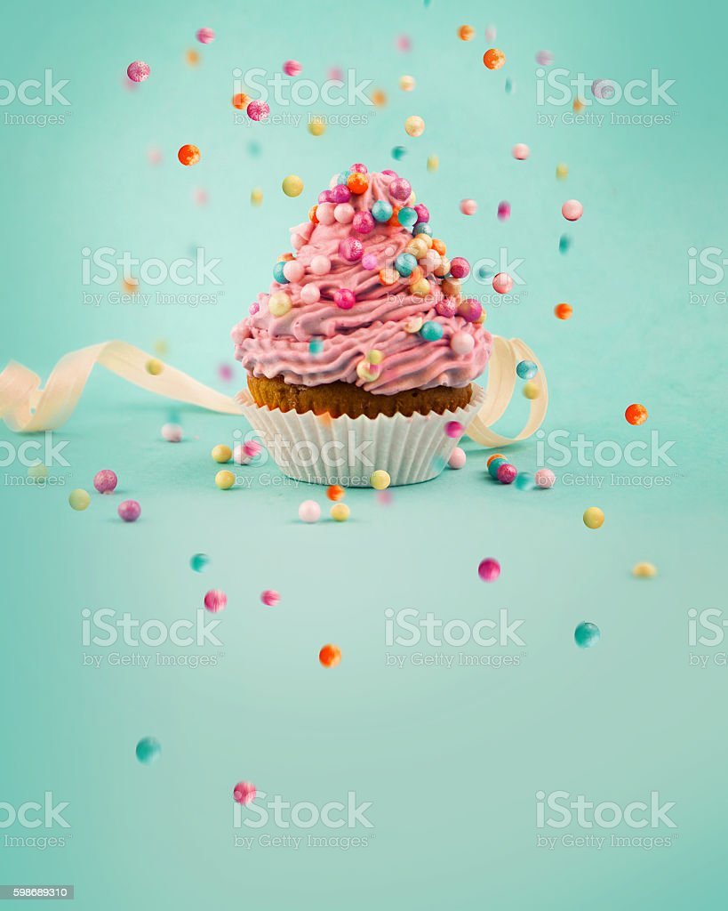 Tasty cupcake stock photo
