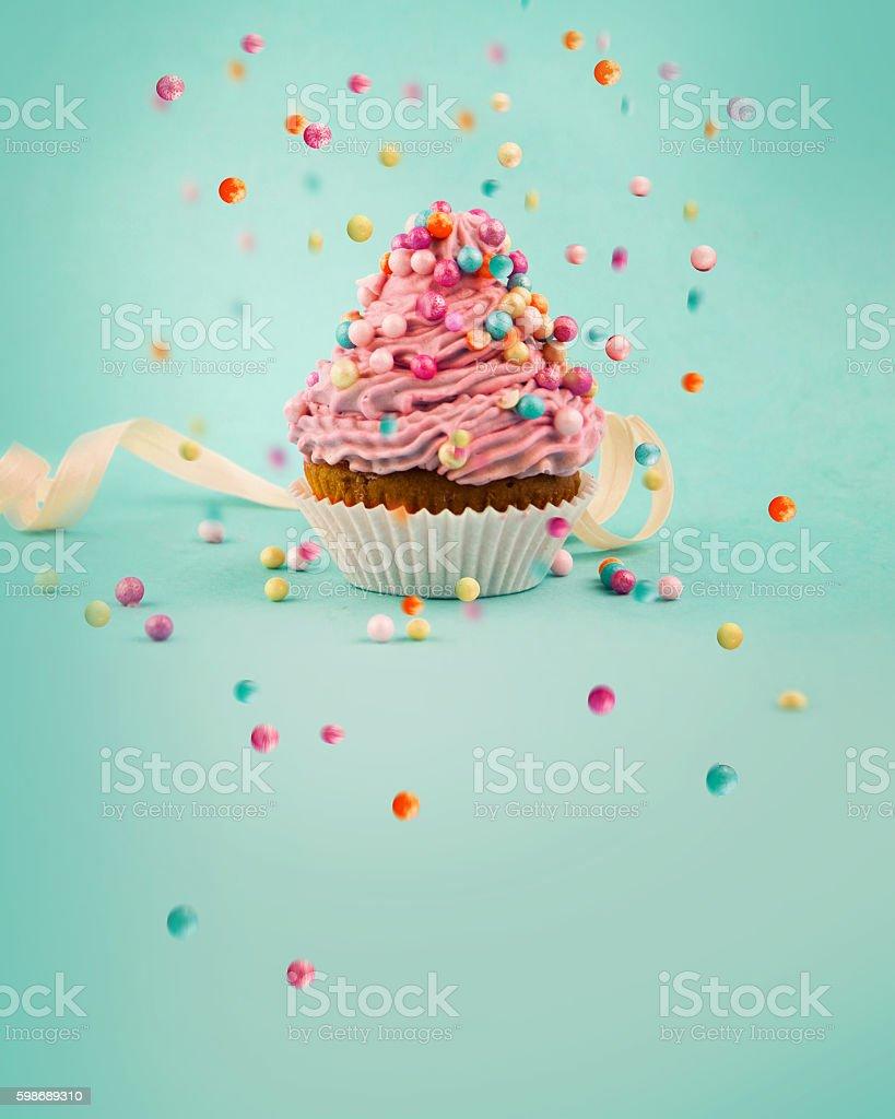 cupcake saboroso - foto de acervo