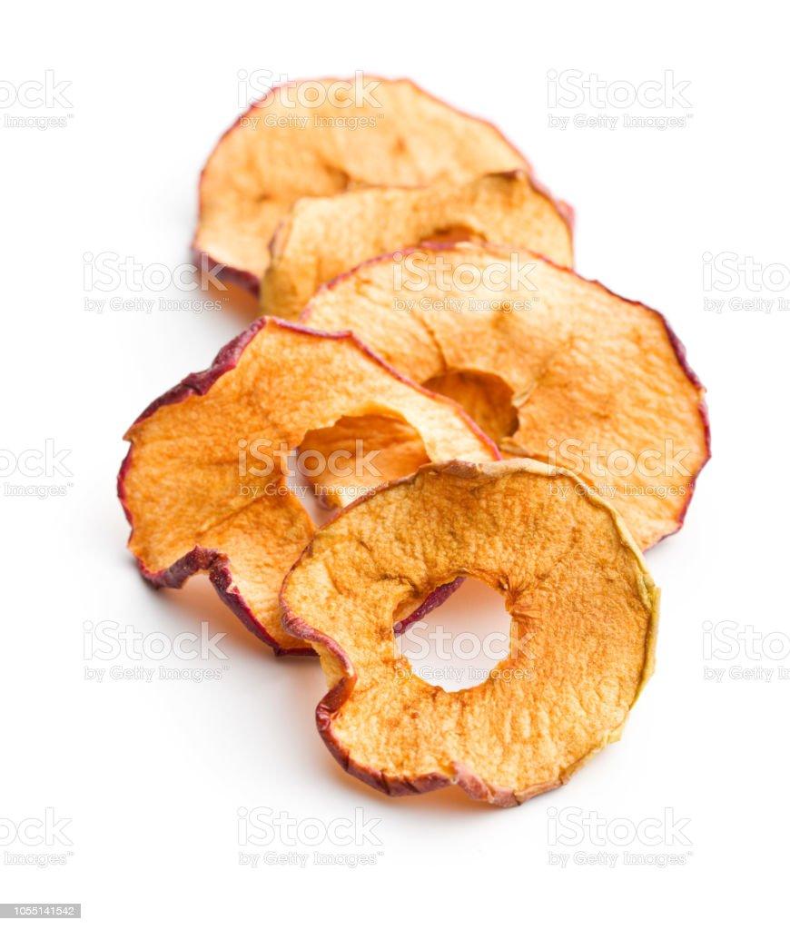 Smakelijke gedroogde appel segmenten - Royalty-free Afvallen Stockfoto