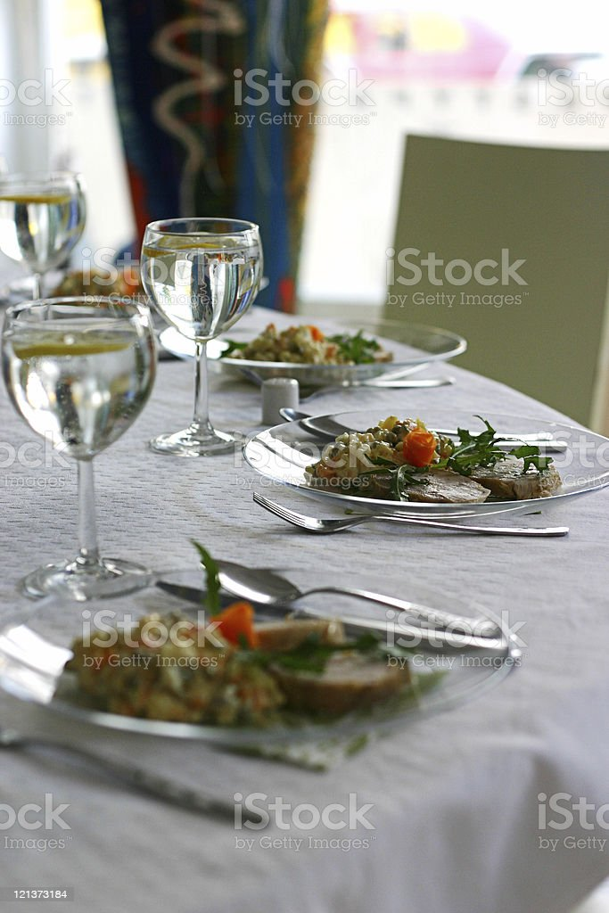 Tasty Elegenant dinner royalty-free stock photo