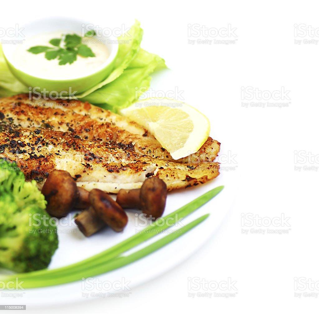 Tasty fish fillet royalty-free stock photo