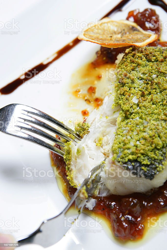 Tasty fish meal royalty-free stock photo
