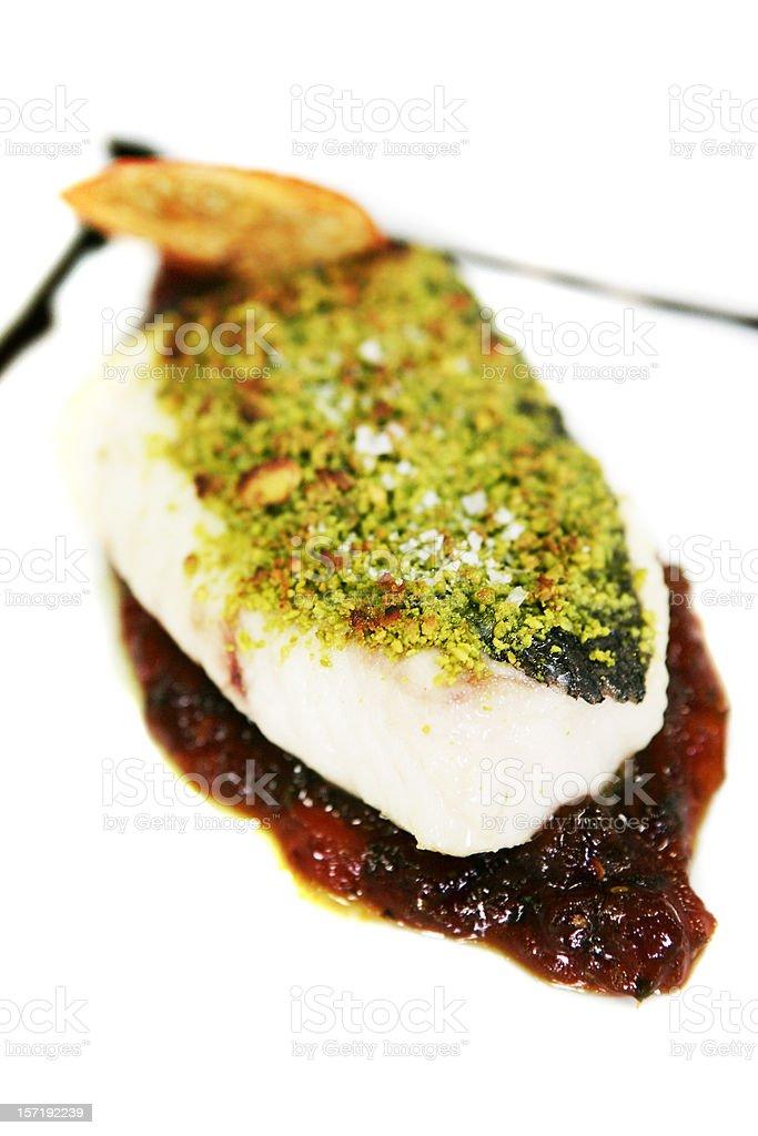 Tasty fish plate royalty-free stock photo