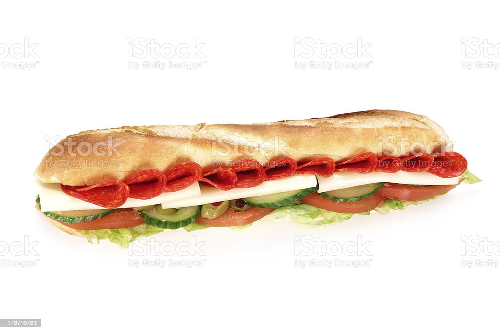 Tasty french baguette royalty-free stock photo
