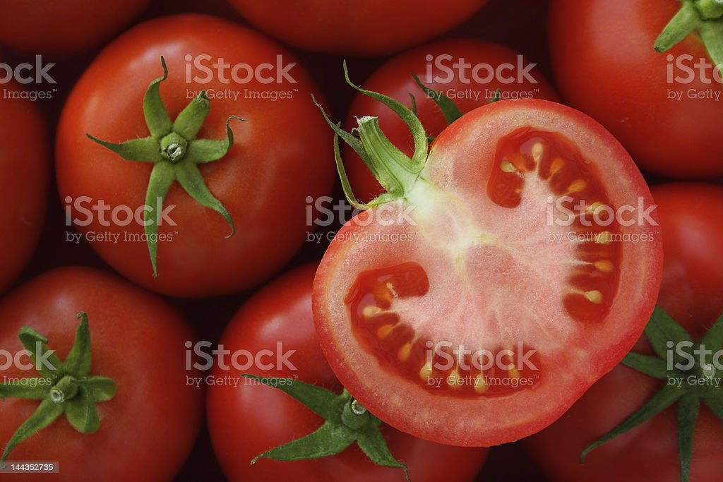 Tasty half of tomato royalty-free stock photo