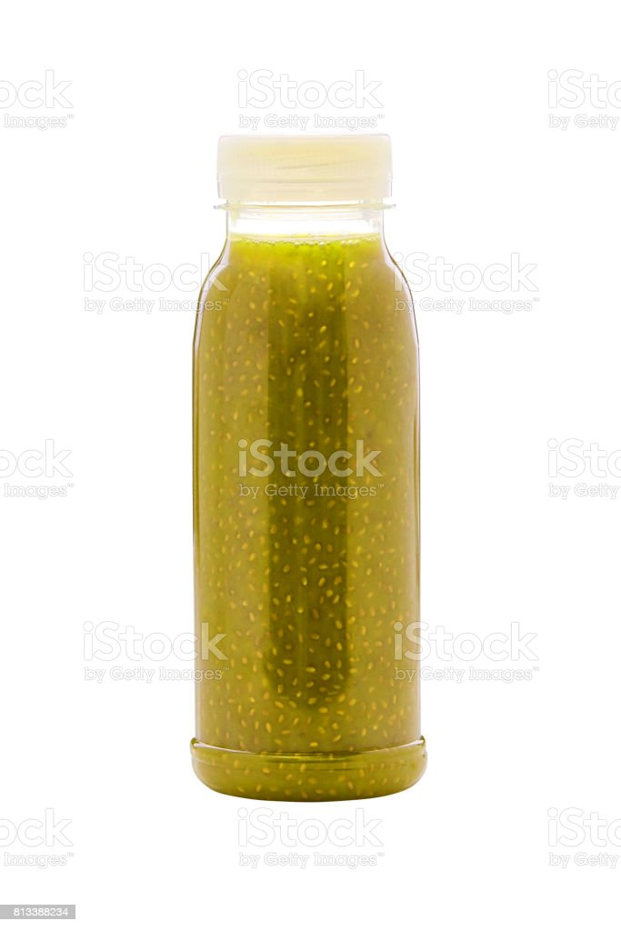 Savoureux sains frais aux épinards et pomme smoothie - Photo