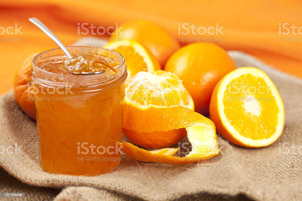tasty home made marmelade stock photo