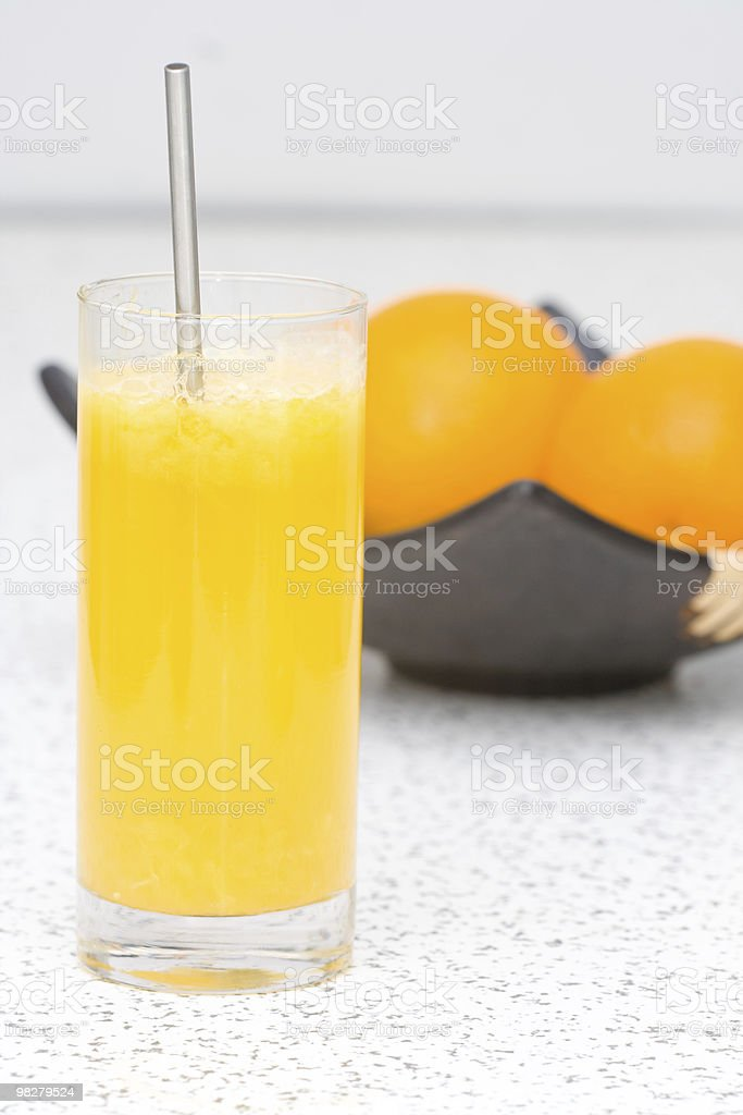 Tasty homemade orange juice royalty-free stock photo