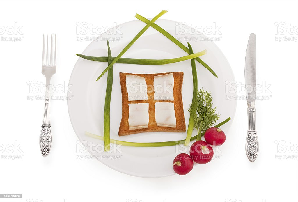 Tasty house with window royalty-free stock photo