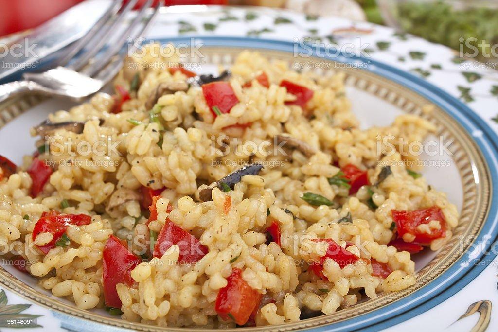 Delizioso risotto italiano Fungo foto stock royalty-free